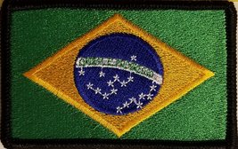 """[Single Count] Custom and Unique (3 1/2 """" x 2 1/4"""" Inches) BRAZIL FLAG Rectan... - $6.92"""