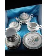 Vintage Chinese Jingdezhen Famille Rose   Porcelain Hand Painted Tea Set - $74.43
