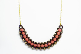Thick Beaded Circle Necklace - $64.00