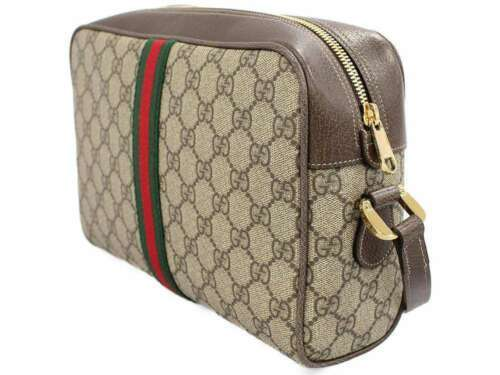 GUCCI Ophidia Shoulder Bag GG Supreme Leather Beige 517080 Authentic 5451159