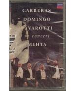 Carreras, Domingo, Pavarotti in Concert Mehta (Cassette) 1990 - $6.70