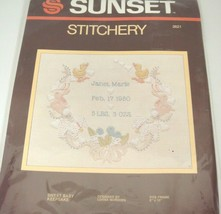 "Vintage Sunset Stitchery Kit 2621 Sweet Baby Keepsake 8"" x 10"" by McRode... - $19.79"