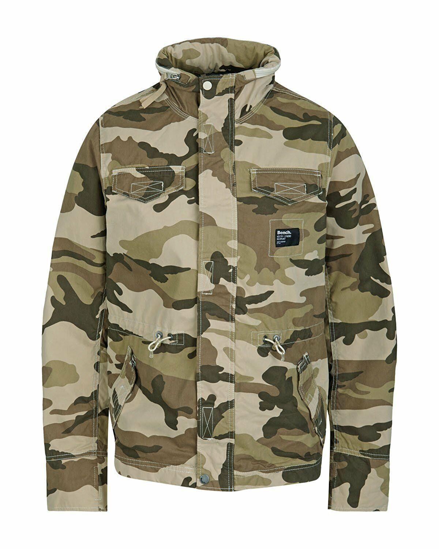 Bench UK Iguana B Armée Camouflage Chasse M65 Fall Veste BMKA1411B Nwt