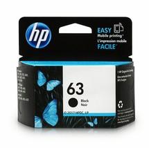 HP F6U62AN 63 Original Ink Cartridge Black For Deskjet 2131, 2136, 3630, 3635 - $35.59