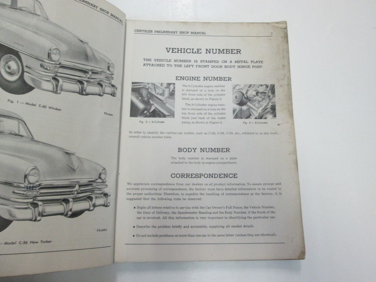 1953 Chrysler Windsor New Yorker Imperial Crown Imperial Preliminary Shop Manual