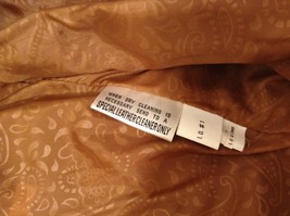 John Weitz Genuine Brown Old Fashioned Leather Jacket Sz L image 6
