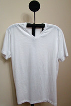 Alfani White Short Sleeve V Neck T-Shirt - Size Large - $5.95