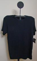 Alfani Black Short Sleeve Crew Neck T-Shirt - Size Medium - $5.95