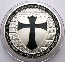 Knights Templar Coin -Black  Cross / Masonic Coin .999 Silver - $5.90