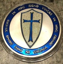 Knights Templar Coin V Blue Layer Cross / Masonic Coin .999 Silver - $5.90