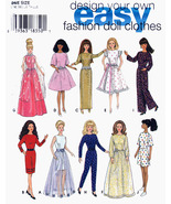 EASY BARBIE DOLL WARDROBE GOOD VARIETY SEWING PATTERN SIMPLICITY 9838  U... - $13.98