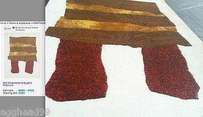 ENRICO BAJ Original Lithograph 1962 Raised Texture Modern Art Print Paris RARE!