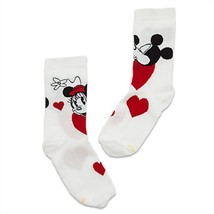 Disney Store Minnie and Mickey Mouse Socks Ladies Shoe Sizes 5-10 Red White - $21.95