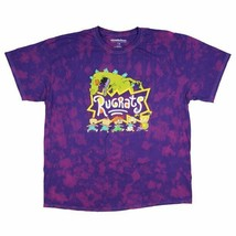 Nickelodeon Rugrats Shirt Reptar And Characters 90s Cartoon Logo Tie Dye... - $19.99