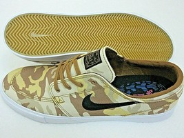 Nike Mens Zoom Janoski Canvas RM PRM Parachute Beige Black Camo Shoes Si... - $64.34
