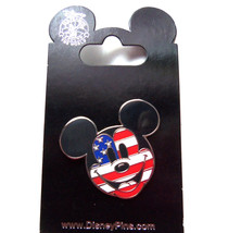 Disney Mickey Mouse Patriotic Flag Trading Pin Theme Parks New Carded - $19.95
