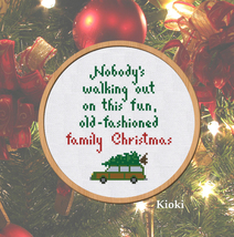 Cross stitch pattern Christmas Vacation Quote - $4.00