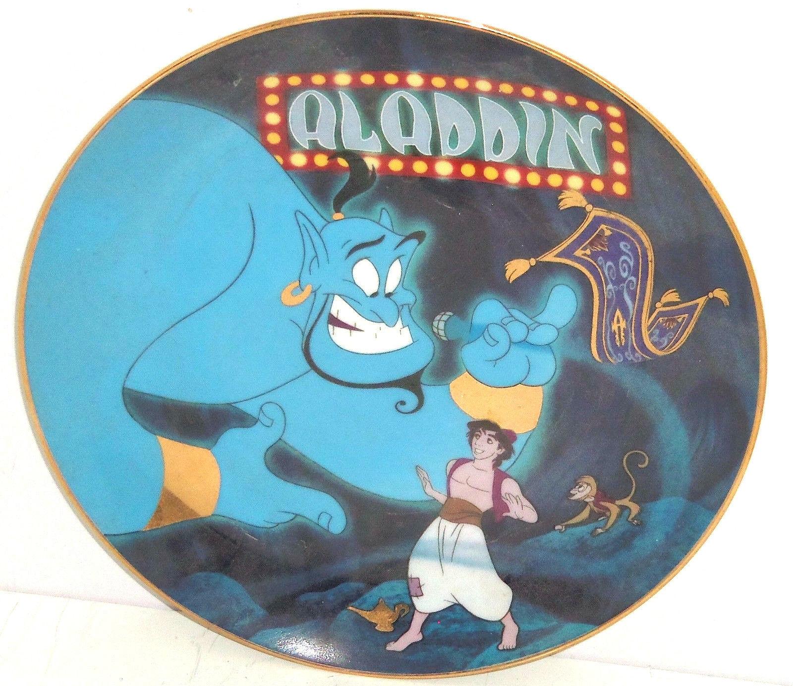 Disney Aladdin Collector Plate Genie A Friend Like Me Bradford Exchange  - $59.95