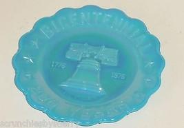 Carnival Glass Joe St Clair Blue Collector Plate 1776 1976 Bicentennial ... - $14.95