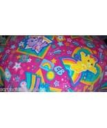 Care Bears Fleece Baby Blanket Hand Tied Pink Blue Pet Lap Blanket Showe... - $39.95
