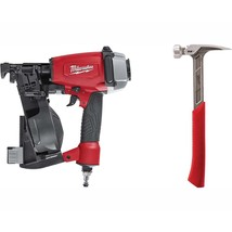 Milwaukee Coil Roofing Nailer 1-3/4 in. 22 oz. Milled Face Framing Hammer - $313.04