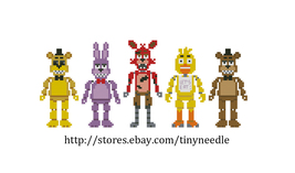 Cross stitch pattern Five nights at Freddy's Tinyneedle - $4.50