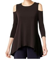 DBG Women's Cold Shoulder Top Three Quarter Sleeves-5X - $29.69