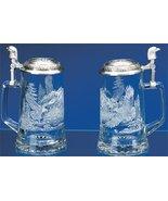 James Meger German Glass Bald Eagle Beer Stein - $49.49
