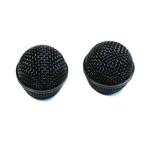 2 PCS Ball Head Metal Microphone Grille RK143G Fits Shure SM58 Wired mic... - $9.99