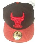 NBA Chicago Bulls New Era 59Fifty 7 Hardwood Classic Cap Hat Black Red - $20.95