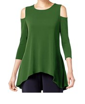 DBG Women's Cold Shoulder Top Three Quarter Sleeves-0X - $29.69