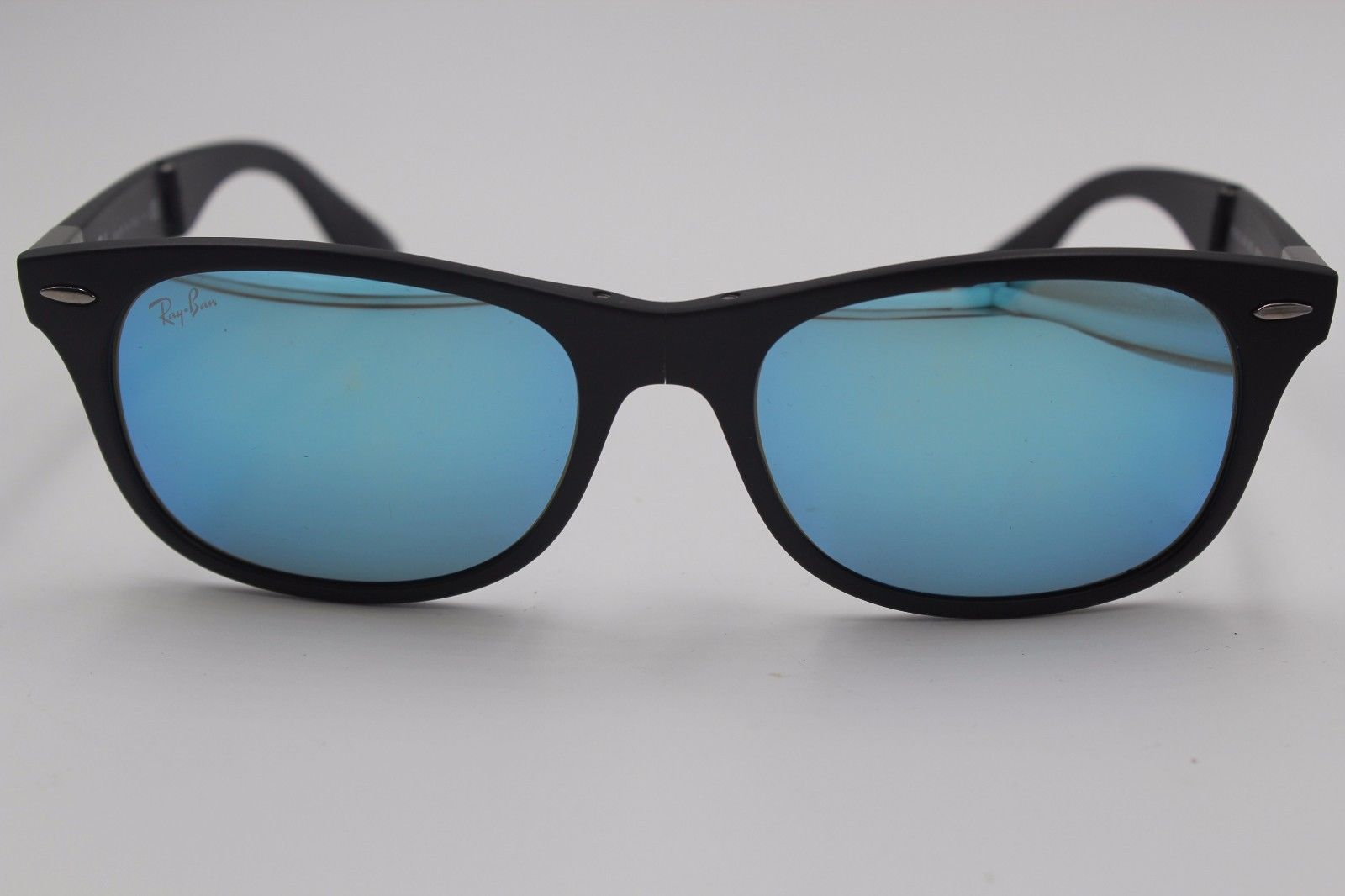 53592e4e9c3a5 RAY-BAN SUNGLASSES RB 4223 601-S 55 BLACK MIRRORED FOLDABLE AUTHENTIC W