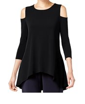 DBG Women's Cold Shoulder Top Three Quarter Sleeves-4X - $29.69