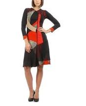S'Quise Paris: Asymmetrical Color Pieced Midi Dress - $98.00