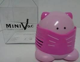 Pink Kitty Mini Vac Table Top NIB Battery Powered - $10.99