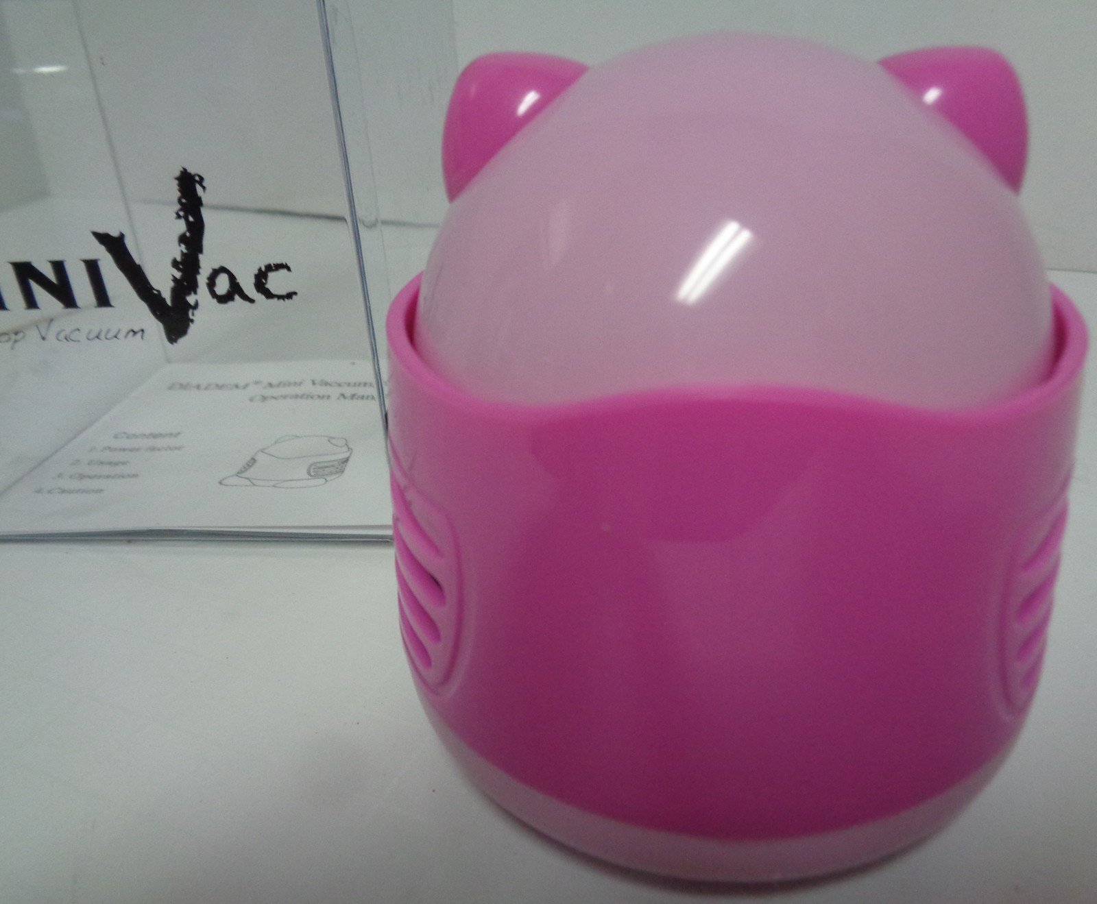 Pink Kitty Mini Vac Table Top NIB Battery Powered