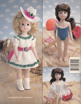"Crochet Summer Days 14"" Doll Clothes Collection Pattern 8401 American Needlework - $8.98"