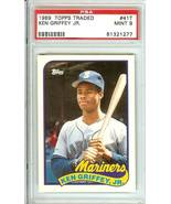 1989 topp traded rookie ken griffey jr seattle mariners psa 9 graded rare - $9.99