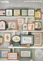 Cross Stitch 46 Miniature Sayings Cute - Funny Short & Sassy Leisure Arts #548 - $7.98
