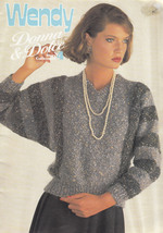 WENDY DONNA & DOLCE COLLECTION 4 LADIES & MENS KNIT DESIGNS U.K. 34 PAGES - $8.98