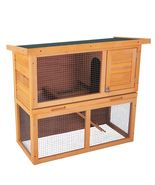 "36"" Waterproof Wood Rabbit Hutch Chicken Coop Hen House Poultry Pet Cage  - $82.79"
