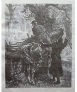 Horse, Genre scene, Old Art print, Steel engraving, Reprint, Book illust... - $15.99