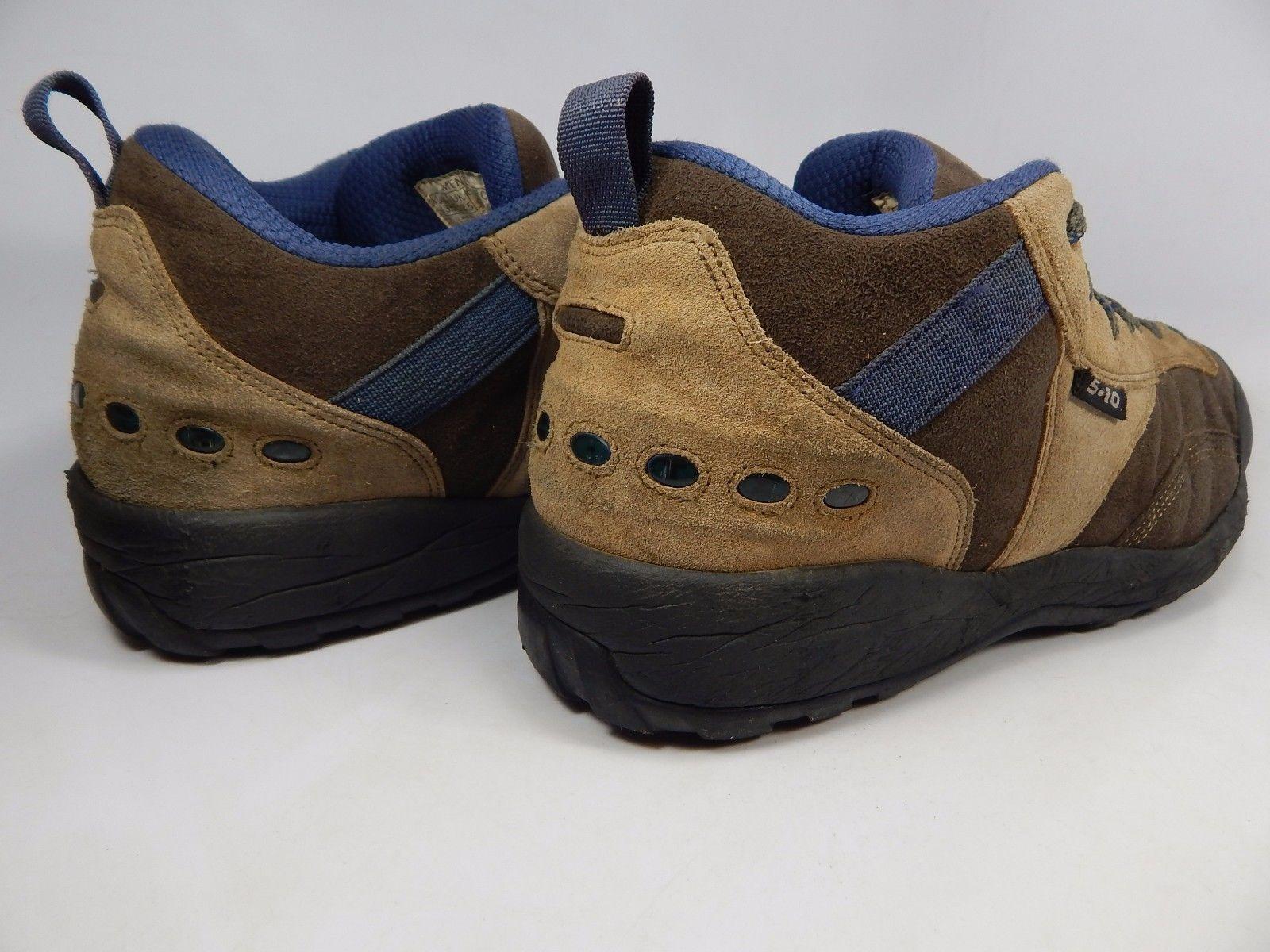 Five Ten 5.10 Men's Leather Hiking Shoes Size US 13.5 M (D) EU 48 Brown Blue