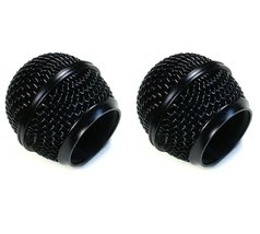 2 pcs Ball Mesh Microphone Grille Fits Shure SM58 Microphone Die-cast, B... - $9.99
