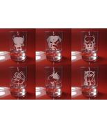 Set of 6 Shot Glasses Dogs, Staf, Pitbull, Bulldog - $39.99