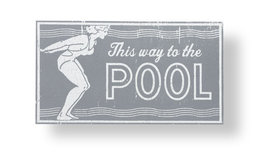 Pool Sign Rustic Wooden Sign This Way To The Pool  Is Approx 8 x 13 Item... - $30.00