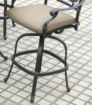 Patio 5 piece set outdoor Furniture Cast Aluminum bar height Elisabeth Bronze image 6