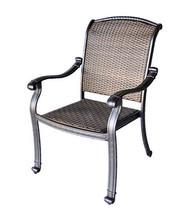 "Fire Pit Patio Set Elizabeth 52"" Propane Tea Table With 4 Santa Clara chairs. image 4"