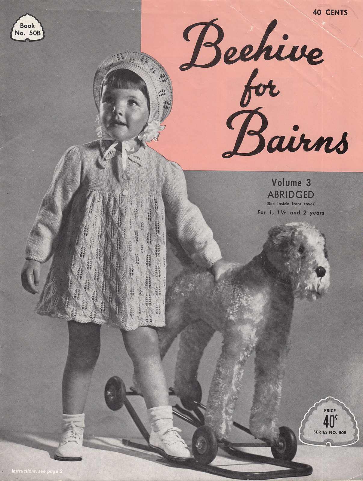 BEEHIVE FOR BAIRNS #50B VOL 3. SIZES 1, 11/2, 2 VINTAGE PATONS & BALDWIN CANADA - $9.98