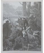 Horse, Genre scene, Old Art print, Steel engraving, reprint, Book illust... - $15.99
